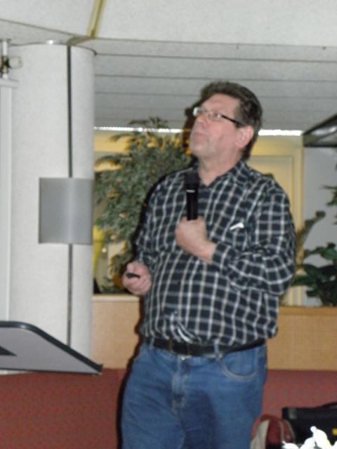 John Graas tijdens zijn presentatie over de ARG (@SGLO - W. Buising)