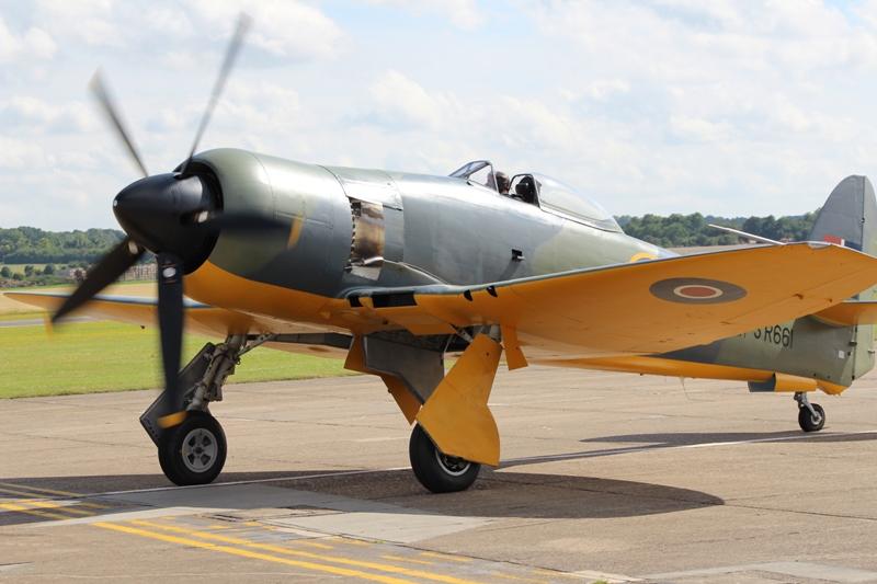 Fury Mk.II SR661 geschilder als het prototype, ook dit toestel is pas onlangs weer luchtwaardig (@P. Righart van Gelder)